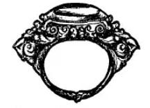Gouden ring uit Bali genaamd Ali-ali karandjae.