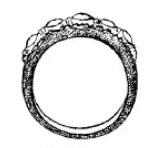 gouden ring uit Bali, genaamd ali-ali lintring