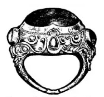 ali-ali banjak negrem: gouden Balinese ring met grote edelsteen