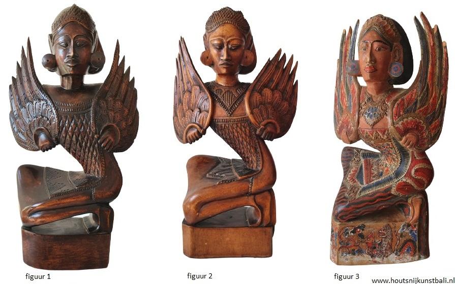 art deco bali legong dancers wood carvings