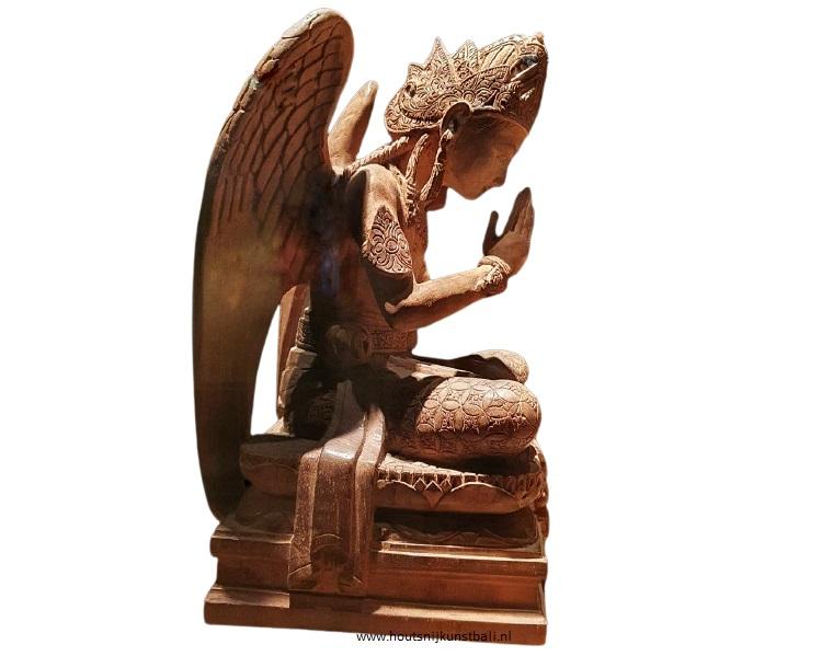 Wood carving by wood carver Iko from Java, representing a Javanese angel